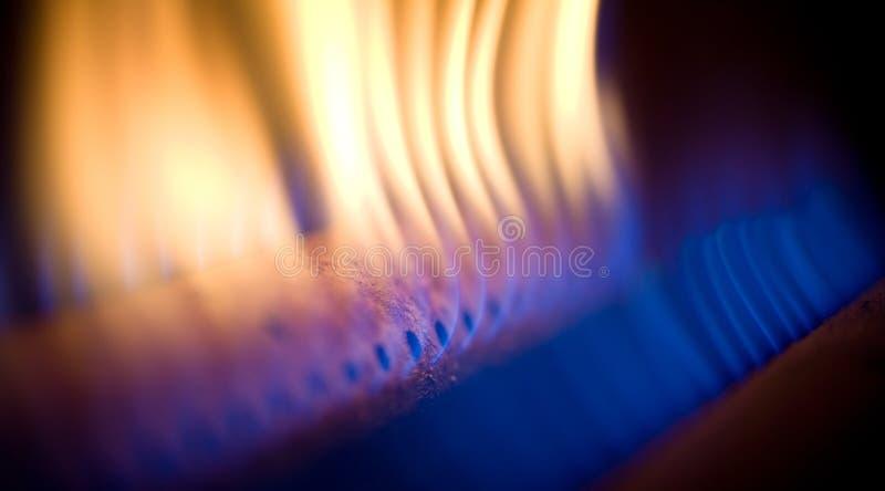 Vlam van een gastoorts stock foto's