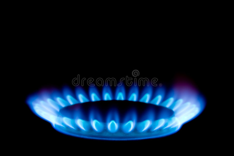 Vlam van gas royalty-vrije stock foto's