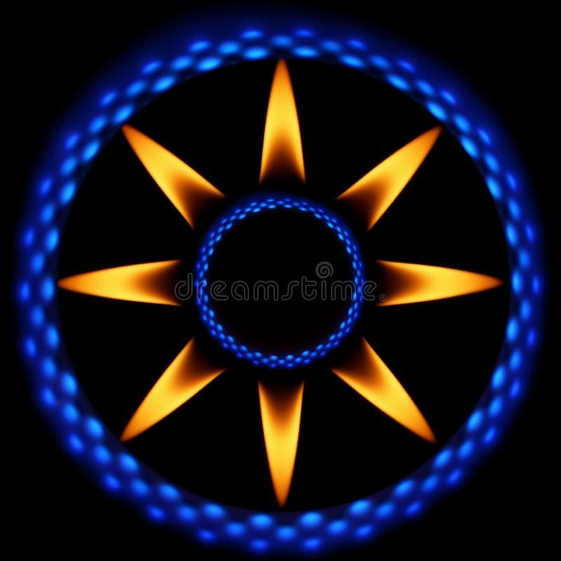Vlammen 2 van de ster stock illustratie