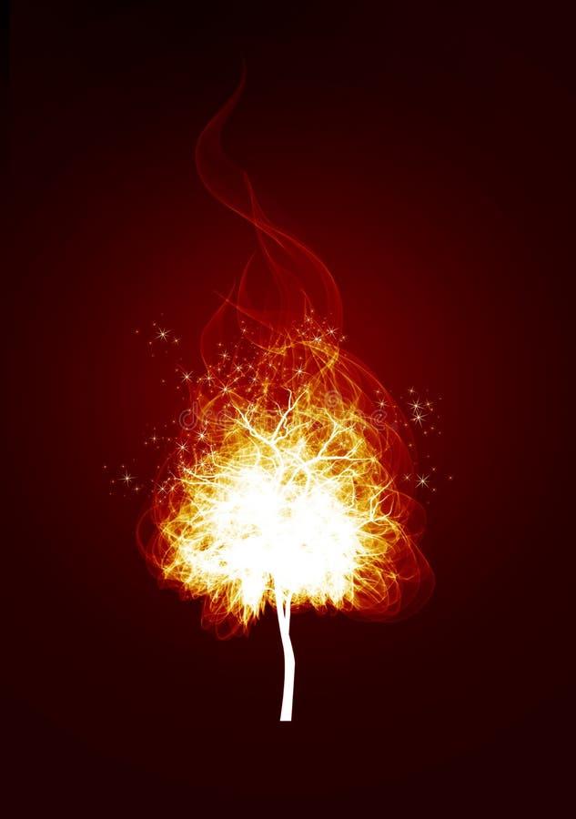 Vlammen op een zwarte achtergrond royalty-vrije illustratie