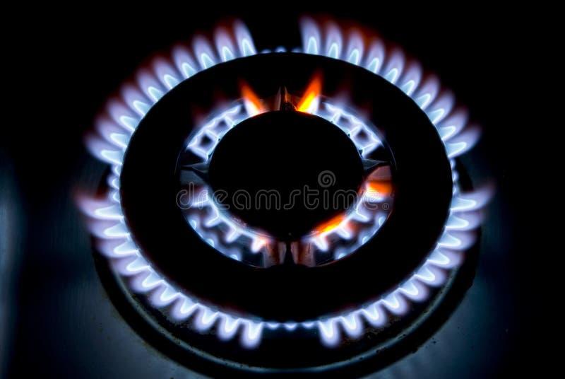 Vlammen van gas royalty-vrije stock afbeeldingen