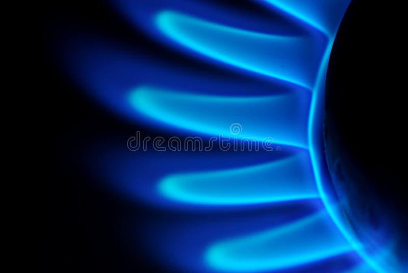 Vlammen van gas royalty-vrije stock foto