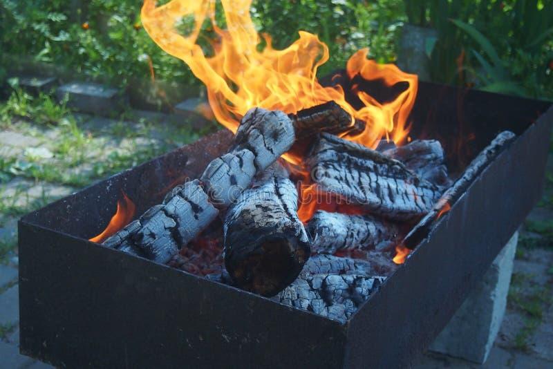vlammenbrand stock fotografie