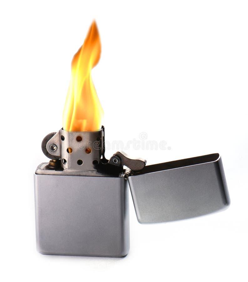 Vlammende aansteker stock foto's