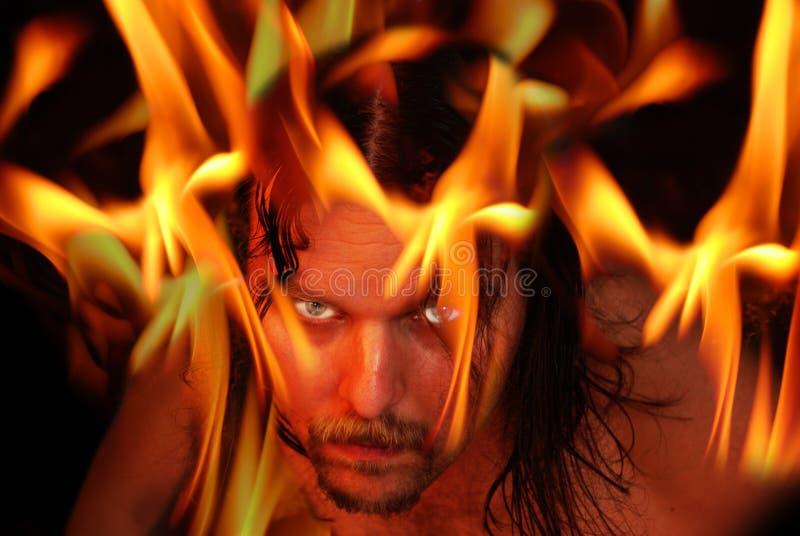 Vlammende demon stock afbeeldingen