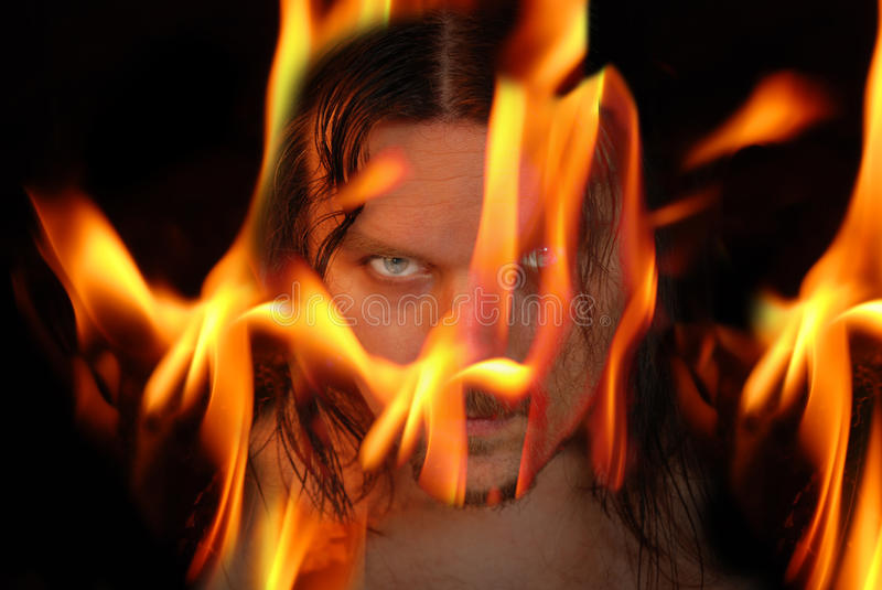 Vlammende demon stock afbeelding