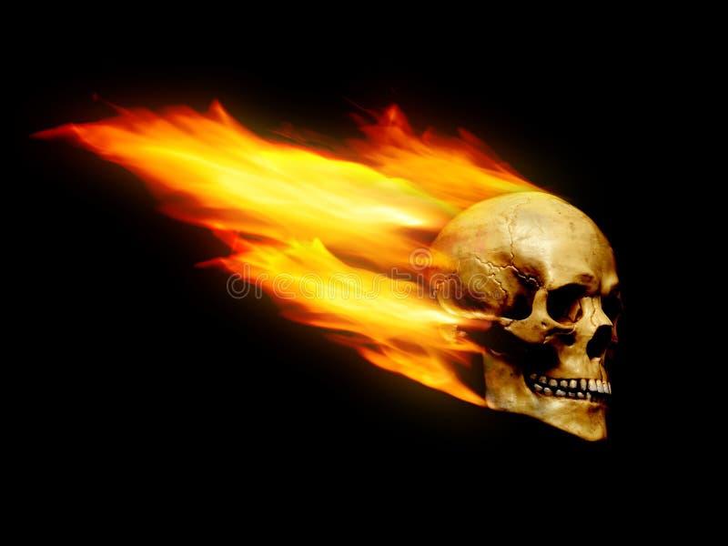 Vlammende schedel royalty-vrije stock afbeeldingen