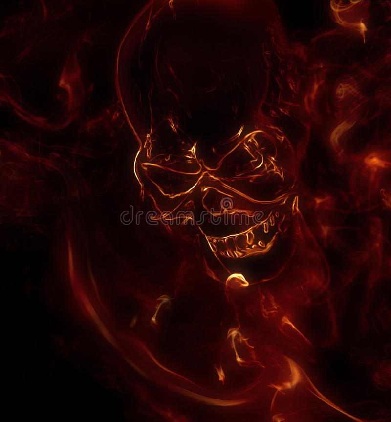 Vlammende schedel royalty-vrije illustratie