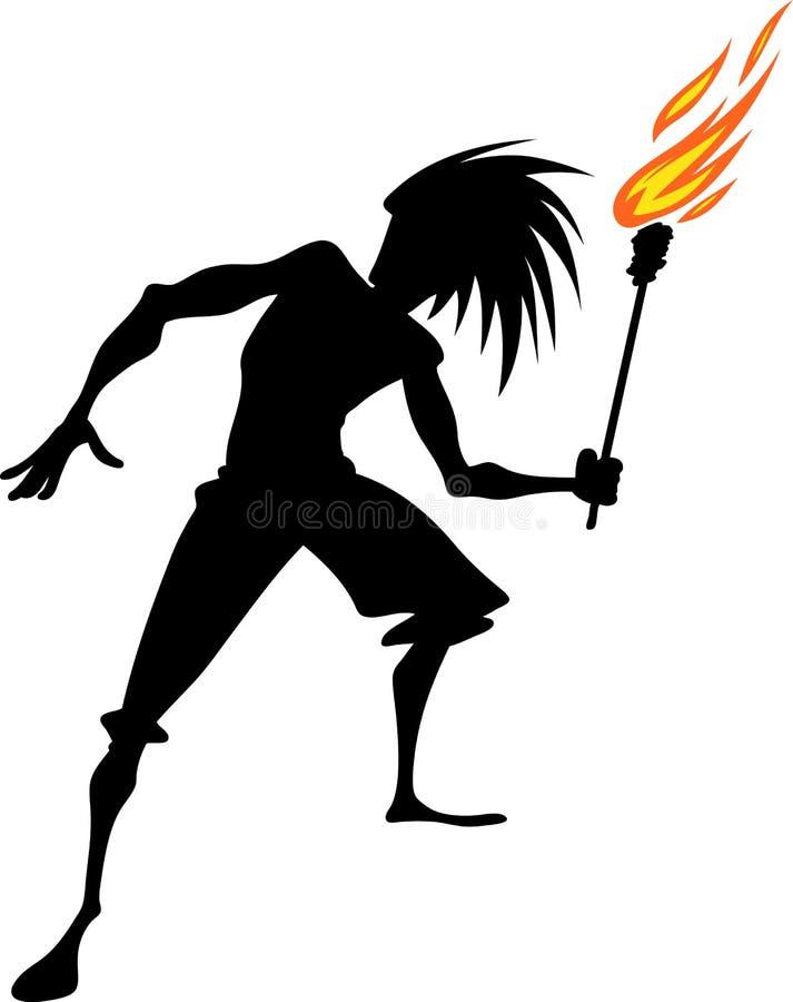 Vlammende toorts vector illustratie