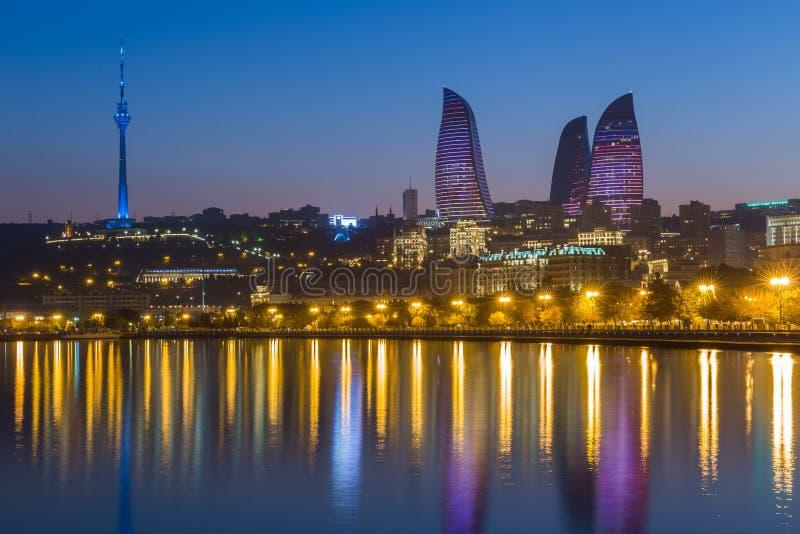 Vlamtoren in Baku stock fotografie