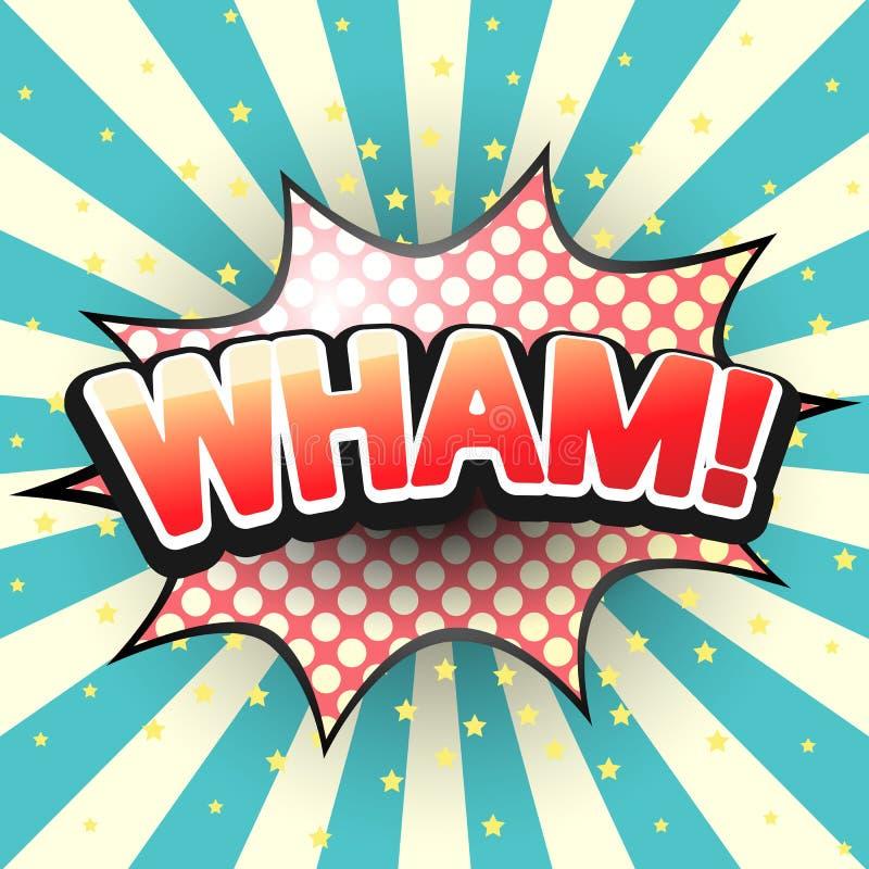 Vlan, bulle comique de la parole Vecteur illustration de vecteur