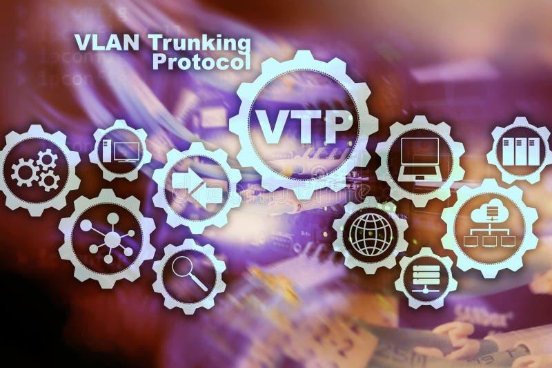 VLAN-Trunking-Protokoll Virtuelles Inhausnetz VTP lizenzfreie stockfotografie