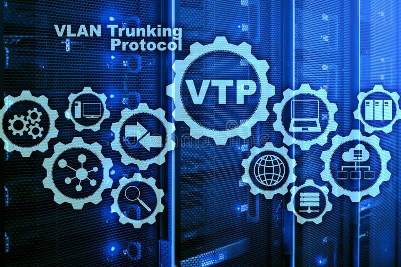 VLAN-Trunking-Protokoll Virtuelles Inhausnetz VTP lizenzfreie stockbilder