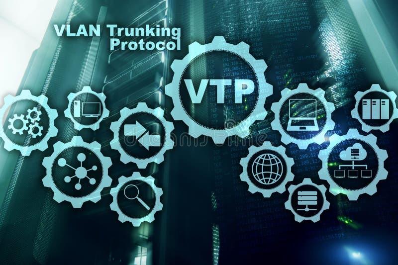 VLAN-Trunking-Protokoll Virtuelles Inhausnetz VTP stockbilder