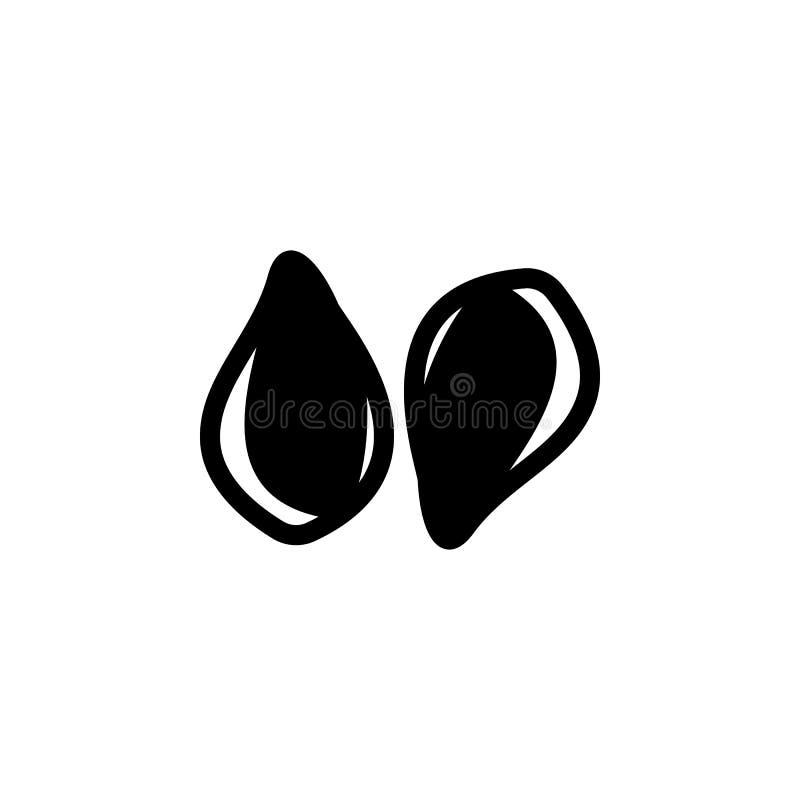 vlaspictogram Element van zaden en notenelementenillustratie Grafisch het ontwerppictogram van de premiekwaliteit Tekens en symbo stock illustratie