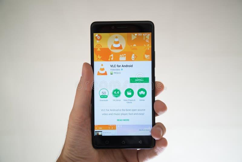 VLC para Android imagem de stock