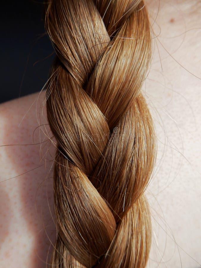 Vlecht van blond haar stock afbeeldingen