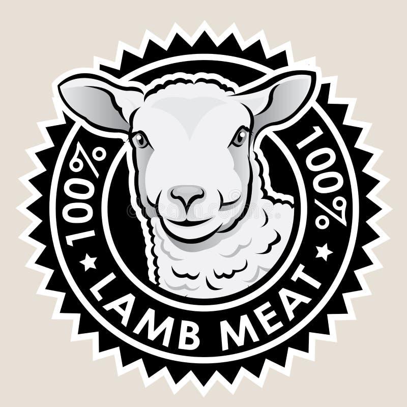 Vlees 100% van het lam royalty-vrije illustratie