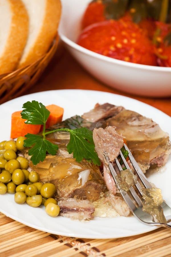 Vlees in aspic royalty-vrije stock foto's