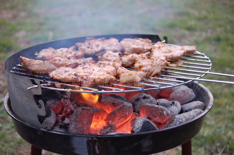 Vlees bij de grill stock foto