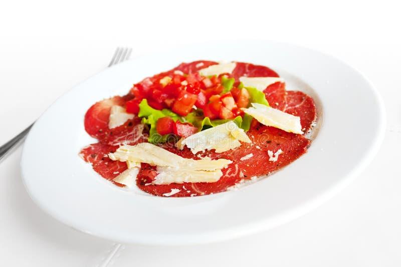 Vlees Carpaccio royalty-vrije stock foto