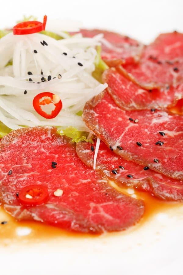 Vlees Carpaccio royalty-vrije stock afbeeldingen