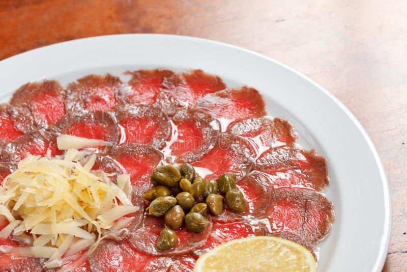 Vlees Carpaccio royalty-vrije stock afbeelding