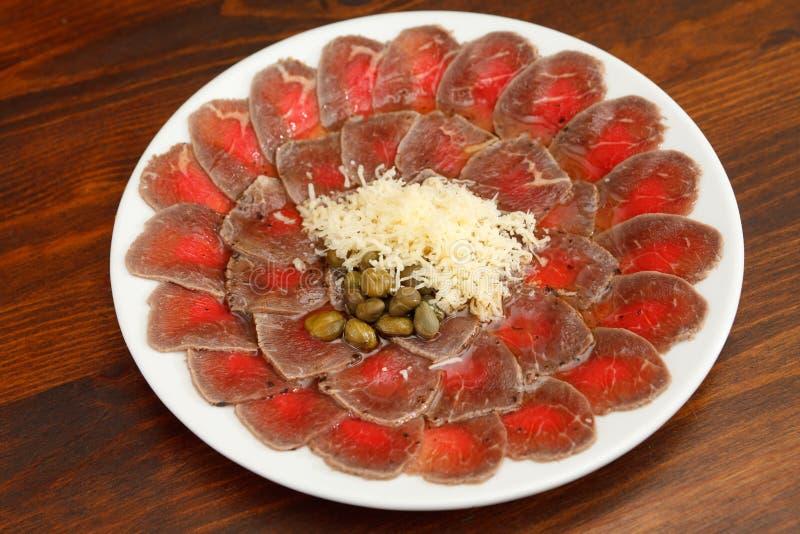 Vlees Carpaccio stock afbeeldingen