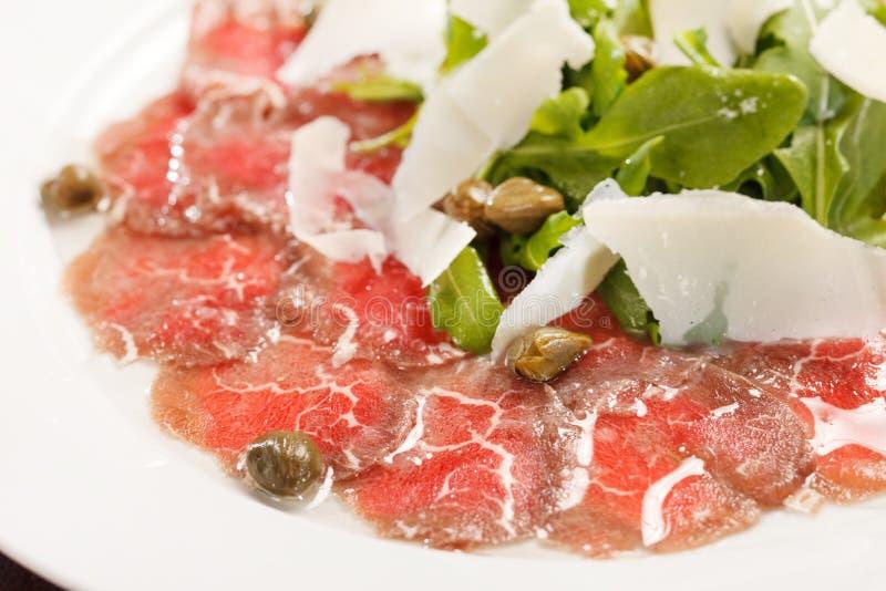 Vlees Carpaccio royalty-vrije stock fotografie
