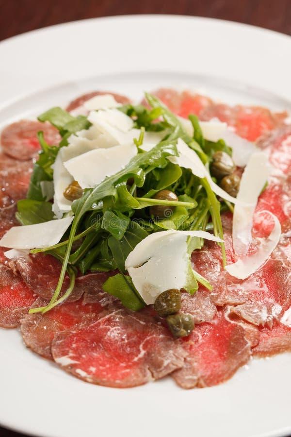 Vlees Carpaccio stock foto