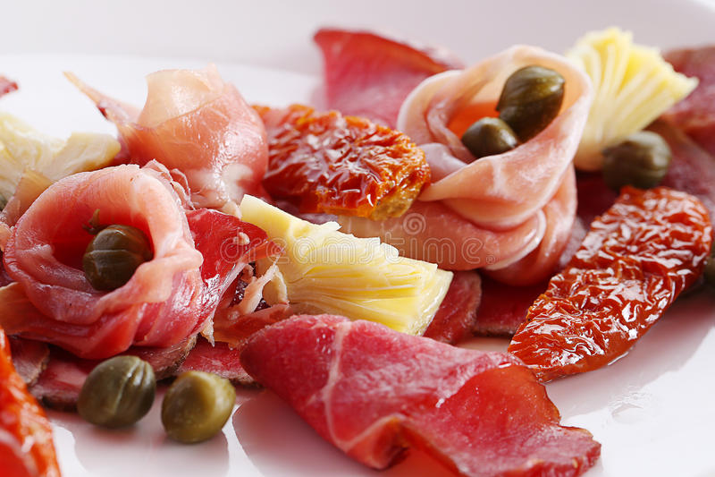 Vlees Carpaccio stock fotografie