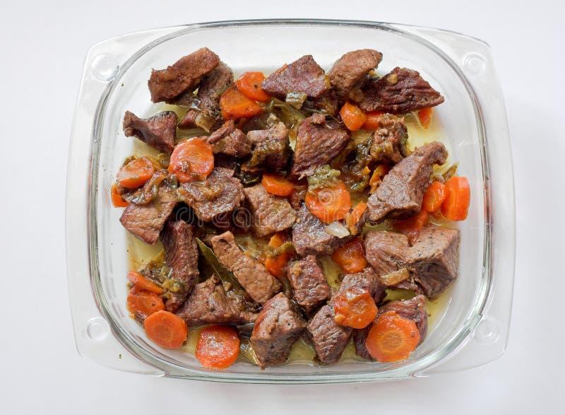 Vlees en wortelen royalty-vrije stock foto