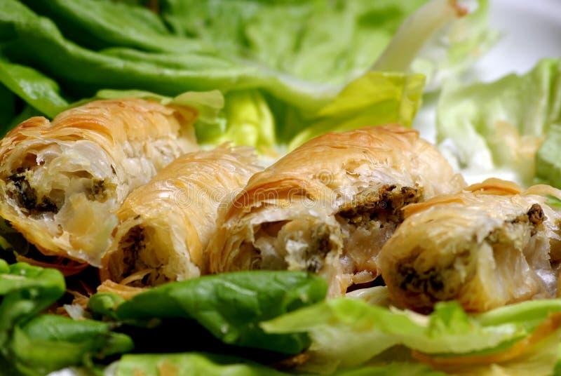 Vlees met pastery royalty-vrije stock foto's