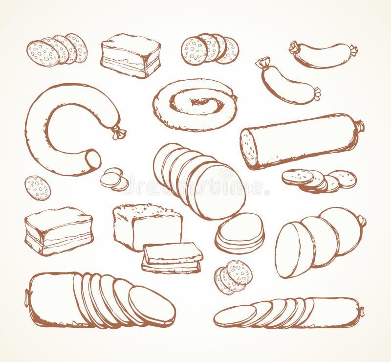 Vlees Vectortekening stock illustratie