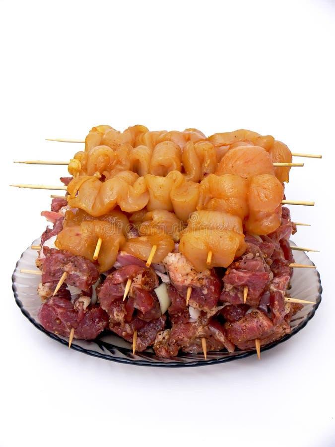 Vlees voor barbecue royalty-vrije stock fotografie