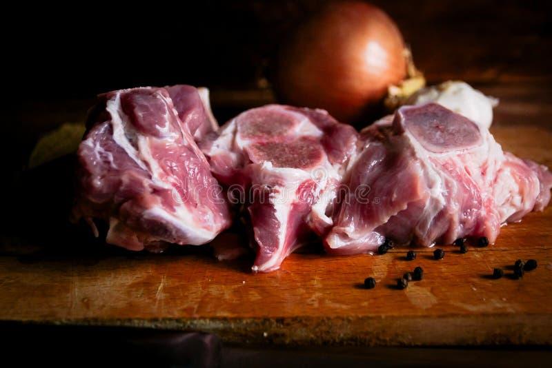 Vlees voor vleesschotels stock fotografie