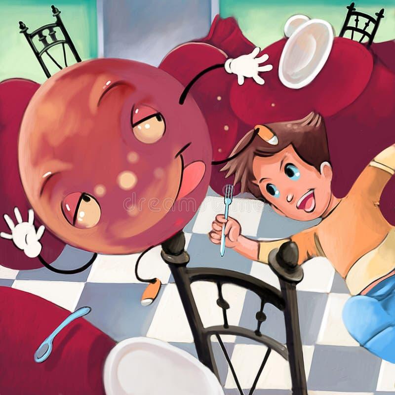 vleesballetje stock illustratie
