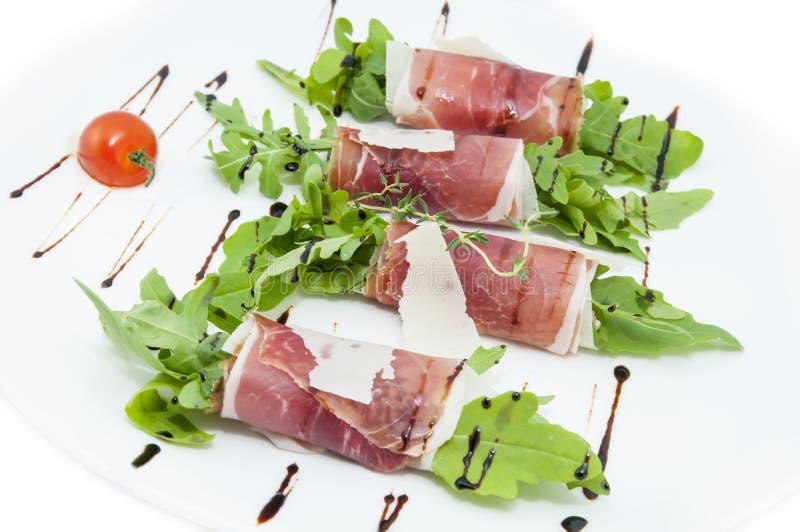 Vleesbroodjes met vlees en greens royalty-vrije stock foto
