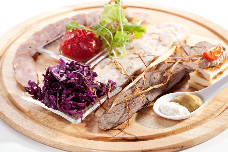Vleesdelicatessen stock fotografie