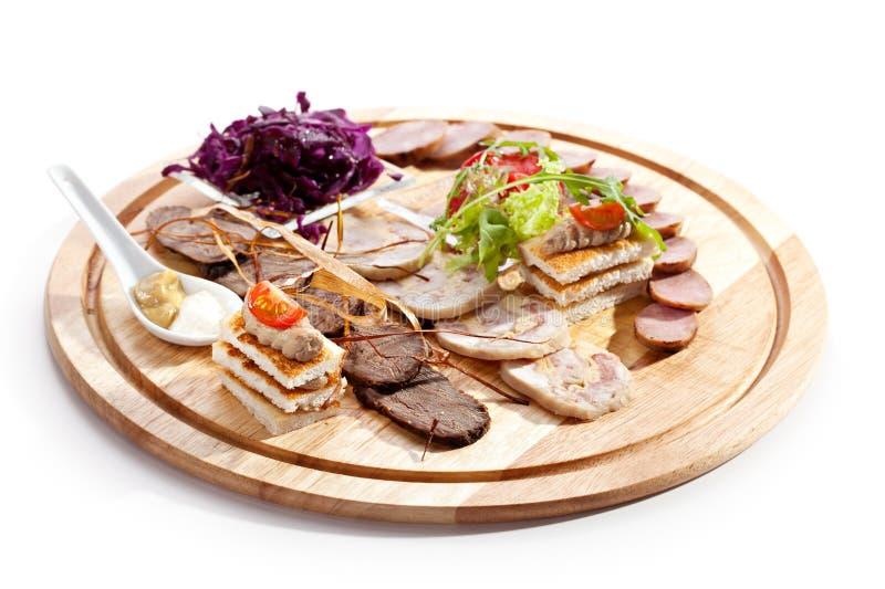 Vleesdelicatessen stock foto's