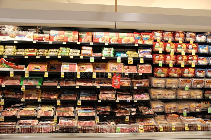 Vleesdelicatessenwinkel stock fotografie