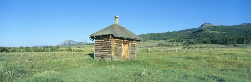 Vleeshuis, Oud Dude Ranch, Honderdjarige Vallei, Montana royalty-vrije stock fotografie