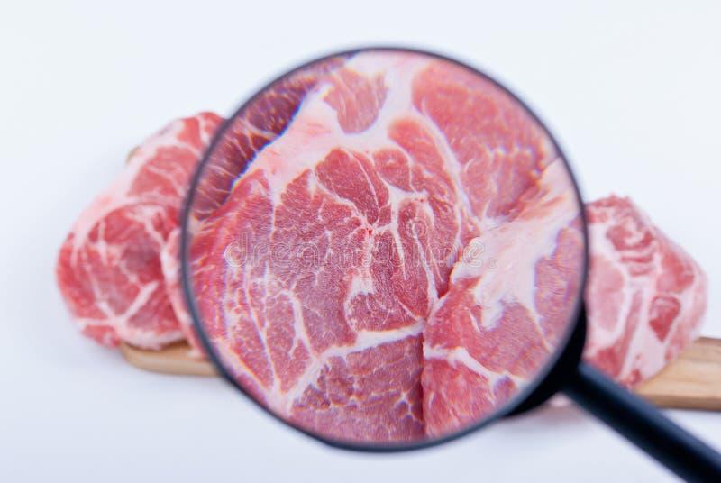 Vleesinspectie stock afbeelding