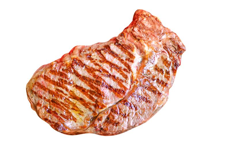 Vleeslapje vlees Geïsoleerde royalty-vrije stock afbeelding