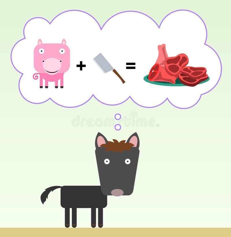 Vleesverbeelding vector illustratie