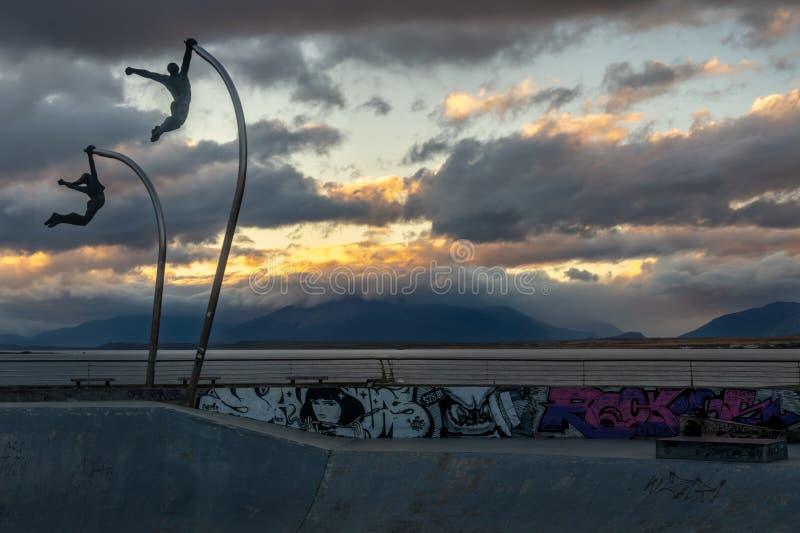 Vleetpark in Patagonië tijdens Schemer stock afbeelding