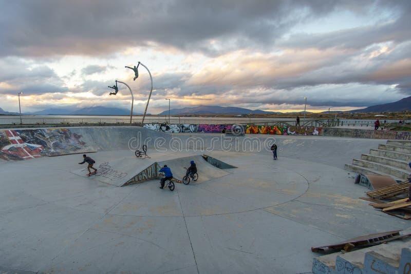 Vleetpark in Patagonië tijdens Schemer royalty-vrije stock foto