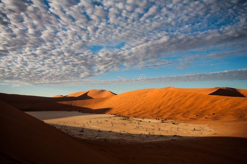 Vlei mort près de Sossusvlei dans Nambia images stock