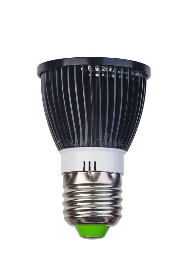 Vlek lightbulb met de basis die van e27 wordt geleid S royalty-vrije stock afbeelding