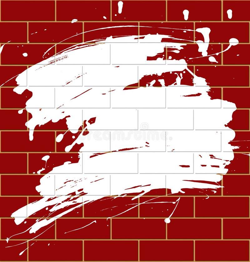 Vlek op een brickwall vector illustratie